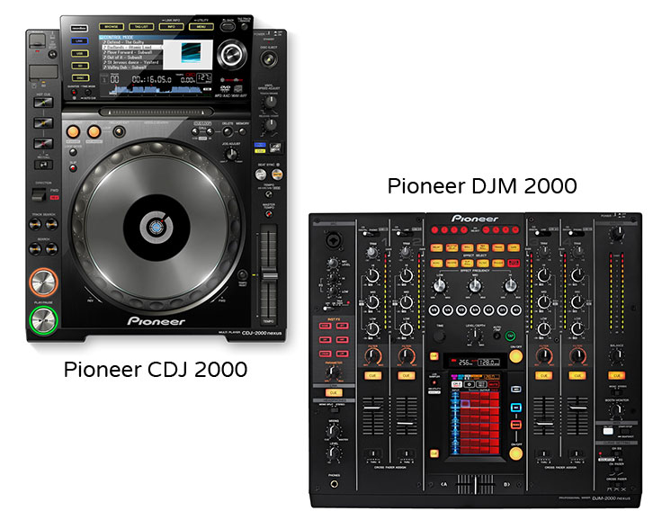 DJ Packages for hire, Advanced pack for hire, Pioneer CDJ 2000 + Pioneer DJM 2000