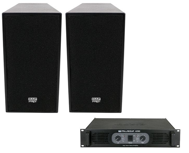 DAP Audio-12 inch 600W Active top speakers plus DAP 1200W AMP
